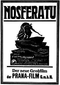 Nosferatu (Filmplakat des Films Nosferatu der Produktionsgesellschaft Prana Film GmbH)